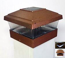 Solar Power Path Deck Post Cap Light Fence Mount Lamp Copper 5x5