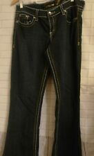 Seven7 Womens Size 32 35L Thick Stitch Denim Jeans Boot Cut