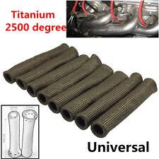 8X Titanium 2500° Car Spark Plug Boot Protector Sleeve For LS1/LS2/LS4/LS6/LS7