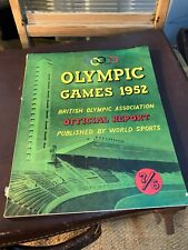 Vintage Magazine Olympic Games 1952 Helsinki Official Report Excellent Condition