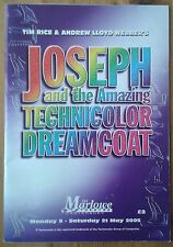 Joseph and the Amazing Technicolor Dreamcoat programme Marlowe Theatre 2005