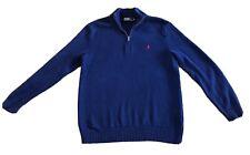Mens Polo Ralph Lauren Jumper Blue Medium 100% Cotton