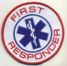 "First Responder Round Star of Life Emblem Patch 3"" Round, EMS EMT"