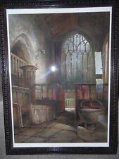 F W Booty, 1915 WC The Chapel Interior, Haddon Hall, Derbyshire. Framed.