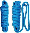 2-pack 38 Inch 20 Ft Double Braid Nylon Dock Line Mooring Rope Boat Anchor Line