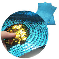 A4 Reversible Sequin Vinyl Fabric Sheets DIY Handmade Bows Craft