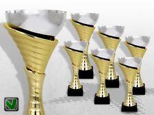 6er Pokalserie ATLANTA mit Gravur günstig kaufen TOP DESIGN  Pokale gold silber