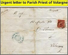 Volargne di Dolce' 1876, North Italy. Urgent letter to priest of Volargne. (#16)