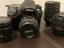 appareil photo camera Nikon D800 + Objectifs Nikor F50, F28, F85