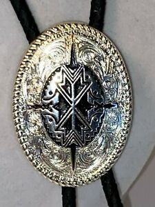 Men's Silver Western Style Etched Bolo By Ivan