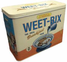 Sanitaruim Weet Bix Box Metal Tin 1960s Vintage Retro Container