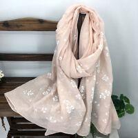 Popular Warm Scarfs Beautiful Women's Cotton Linen Long Paragraph Scarf Soft FA