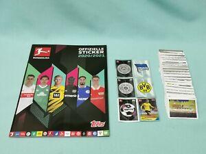 Topps Bundesliga Sticker 2020/2021 komplett Set alle 410 Sticker + Album  20/21