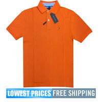 Tommy Hilfiger NWT Men's Custom Fit Core / Ivy Orange Polo Shirt Free Ship
