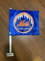 NY Mets Car Auto Flag Orange Blue Baseball MLB Canvas