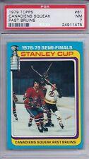 1979 Topps Hockey # 81 Canadiens Squeak Past Bruins NM PSA 7