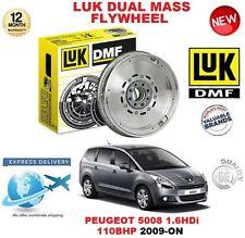 FOR PEUGEOT 5008 1.6 HDi 110BHP 2009-ON ORIGINAL LUK DMF DUAL MASS FLYWHEEL
