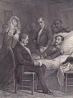 Gravure XIXe Mort du Duc Ferdinand Philippe d'Orléans Louis Philippe Ier