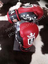New Raja Boxing MuayThai Premium Gloves Original Crown Style 8 10 12 14 16 OZ.