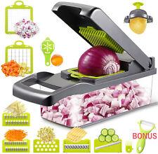More details for 14in1 food vegetable salad fruit peeler cutter slicer dicer chopper kitchen tool