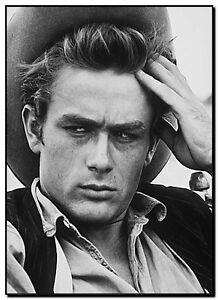 "*FRAMED* CANVAS ART  James Dean Black & White Classic Photo - 18x12"""