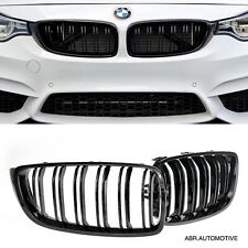 BMW M4 Style Kidney Grills Gloss Black Double Slat F32 2013+ UK Stock