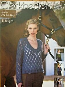 Cleckheaton Knitting Pattern Book - 11 DESIGN OPTIONS -  Mohair 8 Ply Sizes 8-22