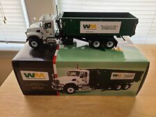 First Gear 1/34 Scale Waste Management Mack Roll-Off Refuse, Rubbish,...