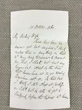 Victorian Love Letter Note Hand Written 1860 Royal Western Yacht Club Sailing
