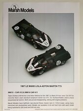 Marsh Models 1/43 Lola Aston Martin T70/T73 Le Mans Kit - Irwin/de Klerk - MM15