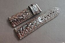 26mm GENUINE Dark Brown ALLIGATOR CROCODILE LEATHER SKIN WATCH STRAP BAND ! U31