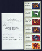 HERALDIC BEASTS 2015 NCR COLLECTORS STRIP  POST & GO with RECEIPT