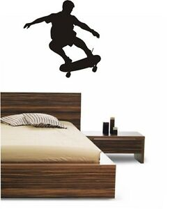 Large 50cm x 50 cm Skateboard boys bedroom wall Campervan caravan Decal Graphic