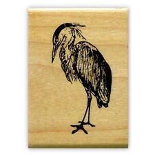 GREAT BLUE HERON mounted bird rubber stamp #9