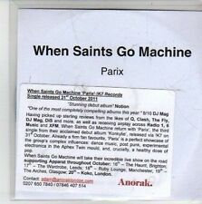 (CG850) When Saints Go Machine, Parix - 2011 DJ CD