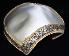 Vintage White Satin with Gray Beaded Border & Pearl Edges Small Dress Hat
