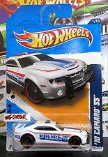 Hot Wheels 2012 #131 '10 Camaro® SS™ WHITE,RED RIMS,BLACK MC5,GREY BASE D48