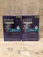 2-Crest 3D White Whitestrips, 1 Hr Express, 16 Total Strips, 1/17 & 01/18