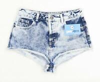 Womens Topshop Blue Denim Shorts Size 8/L1