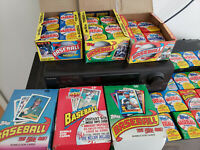 HUGE LOT OF 200-PLUS TOPPS VINTAGE BASEBALL CARDS IN SEALED WAX PACKS!!!