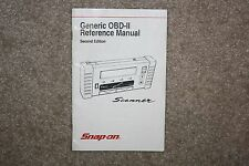 Snap-On MT2500 Generic OBD-II Reference Manual Second Edition Scanner Scan Tool