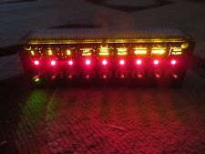 """12V SWITCH PANEL BACK LIT 9 SWITCH PANEL 2""""X6-1/4""""X1-1/2"""" DEEP 4"""" DEEP WITH HARN"""