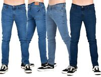Mens Jeans Slim Fit Straight Leg Denim Pants All Waist 30-38 Big Tall Size jean