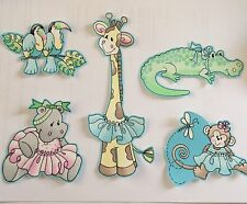 Sweet Jungle Animal Babies - Iron On Fabric Appliques - Baby Showers
