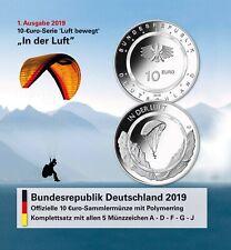 Folder leer für BRD 10 Euro 2019 In der Luft Komplett Satz A D F G J ohne Münzen