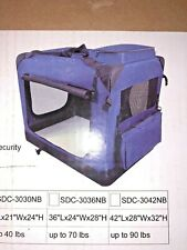 "EliteField 3-Door Folding Soft Dog Crate (20"" L x 14"" W x 14"" H, Blue) NEW"