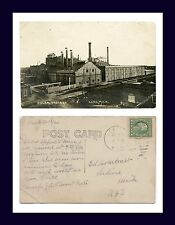 MICHIGAN CARO REAL PHOTO SUGAR FACTORY POSTED 1921 TO ED ARMBRUST, OF SALINE
