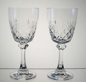 "TRADITION SPIEGELAU aka CANTERBURY BELKRAFT Wine Glasses 6 3/8"" SET of 2"