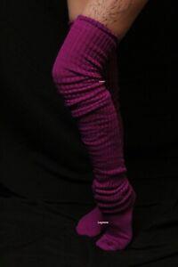Long Loose Thigh High Over The Knee Slouch Socks OTK Boot Japanese School Girl