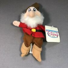 "NEW, ""GRUMPY"" FROM THE SEVEN DWARFS - Disney Bean Bag Plush w/HANG TAG"